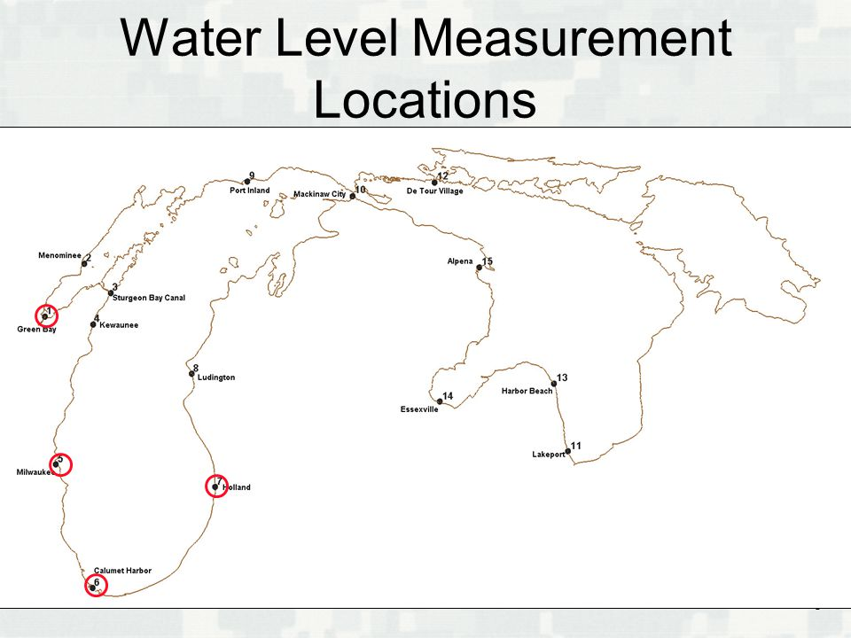 BUILDING STRONG ® Water Level Measurement Locations