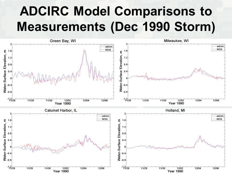 BUILDING STRONG ® ADCIRC Model Comparisons to Measurements (Dec 1990 Storm)