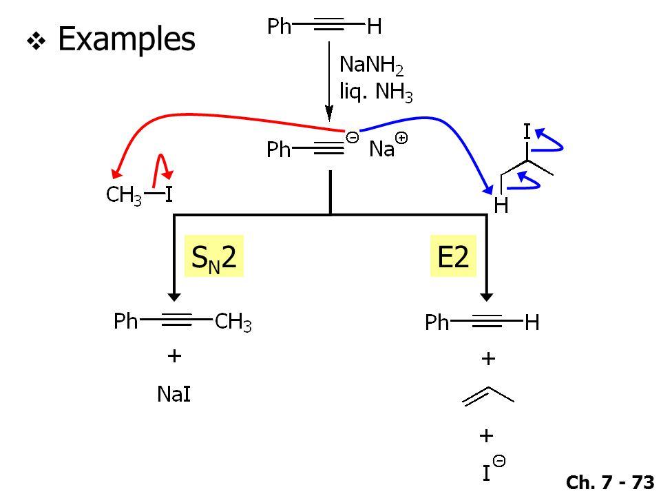 Ch. 7 - 73  Examples SN2SN2E2