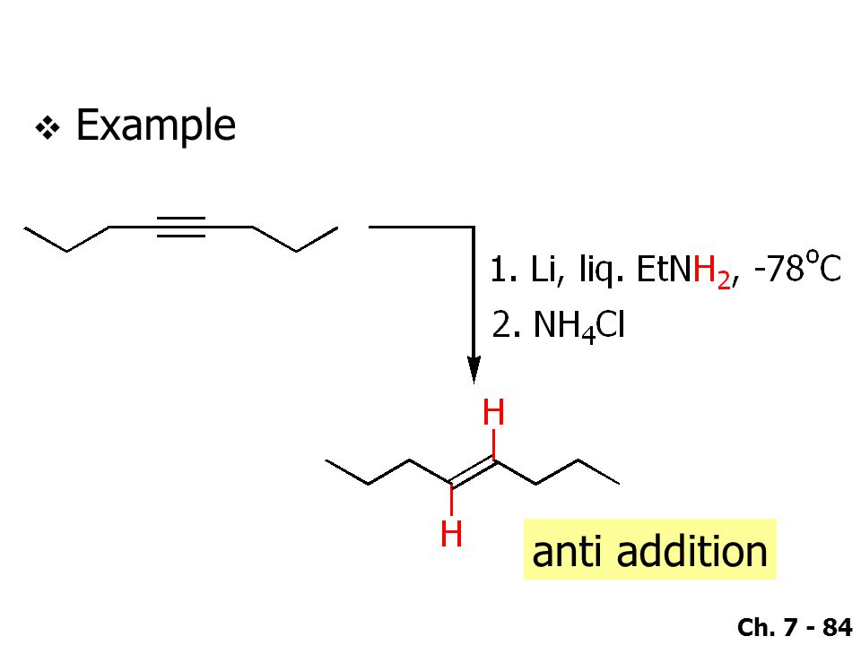 Ch. 7 - 84  Example anti addition