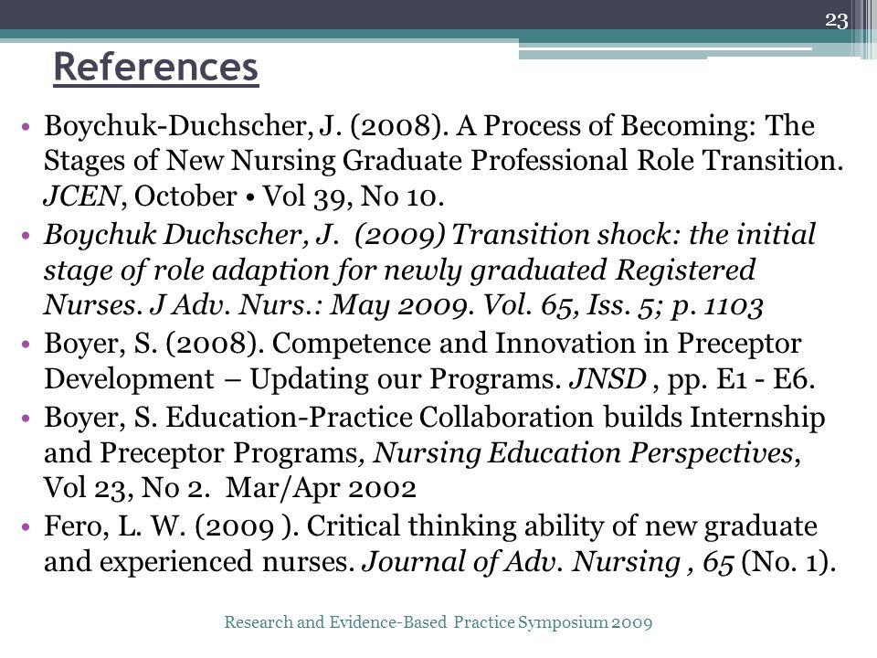 References Boychuk-Duchscher, J. (2008).
