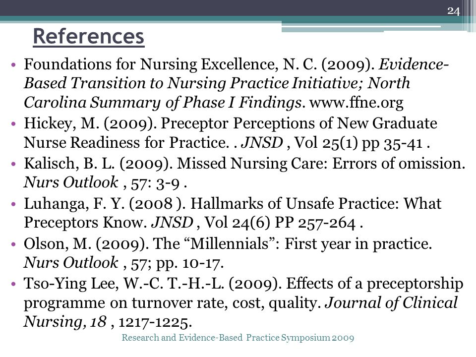 References Foundations for Nursing Excellence, N. C.