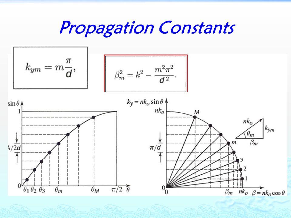 Propagation Constants