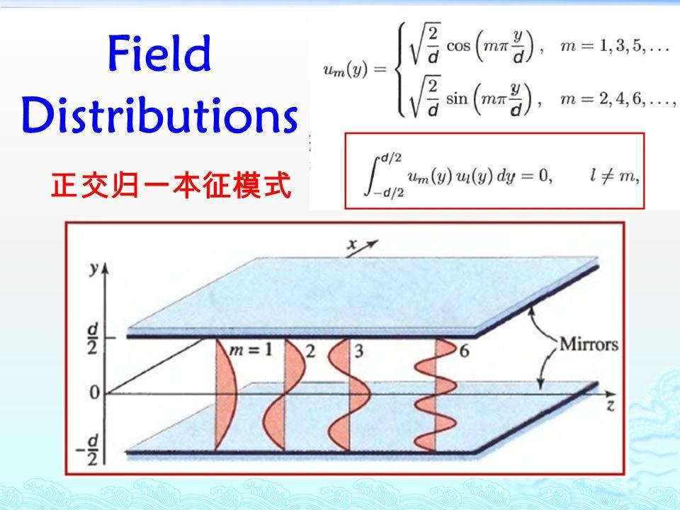 Field Distributions 正交归一本征模式