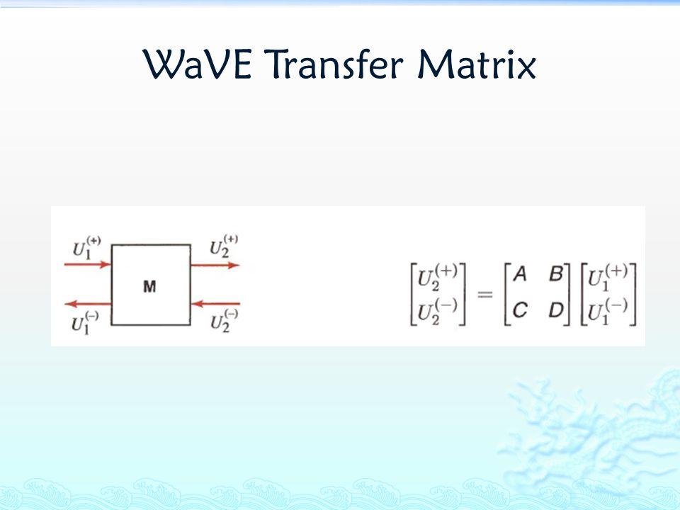 WaVE Transfer Matrix