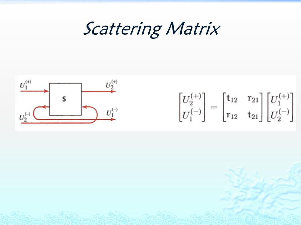 Scattering Matrix