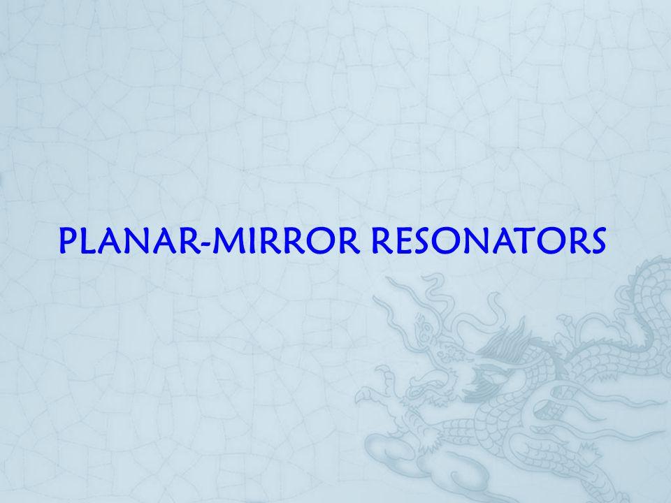 PLANAR-MIRROR RESONATORS