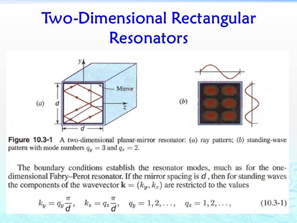 Two-Dimensional Rectangular Resonators