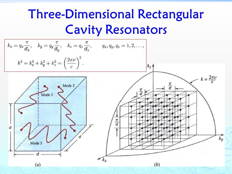 Three-Dimensional Rectangular Cavity Resonators