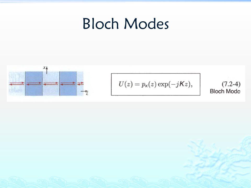Bloch Modes