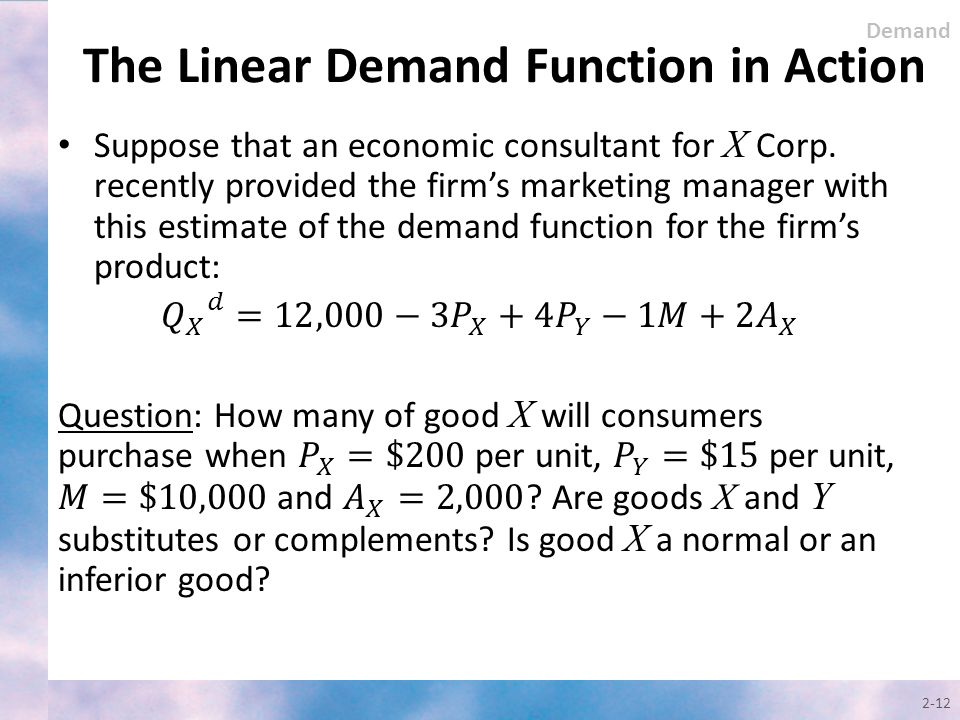 2-12 Demand The Linear Demand Function in Action