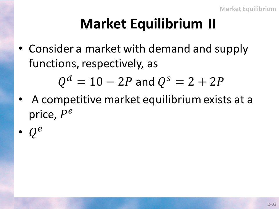 2-32 Market Equilibrium II Market Equilibrium