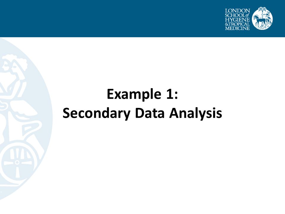 Example 1: Secondary Data Analysis