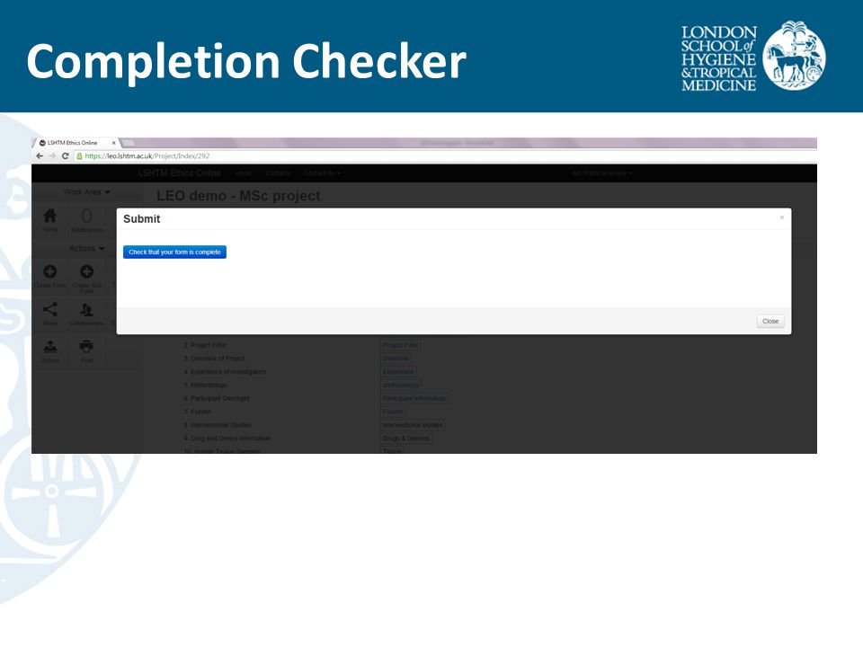 Completion Checker