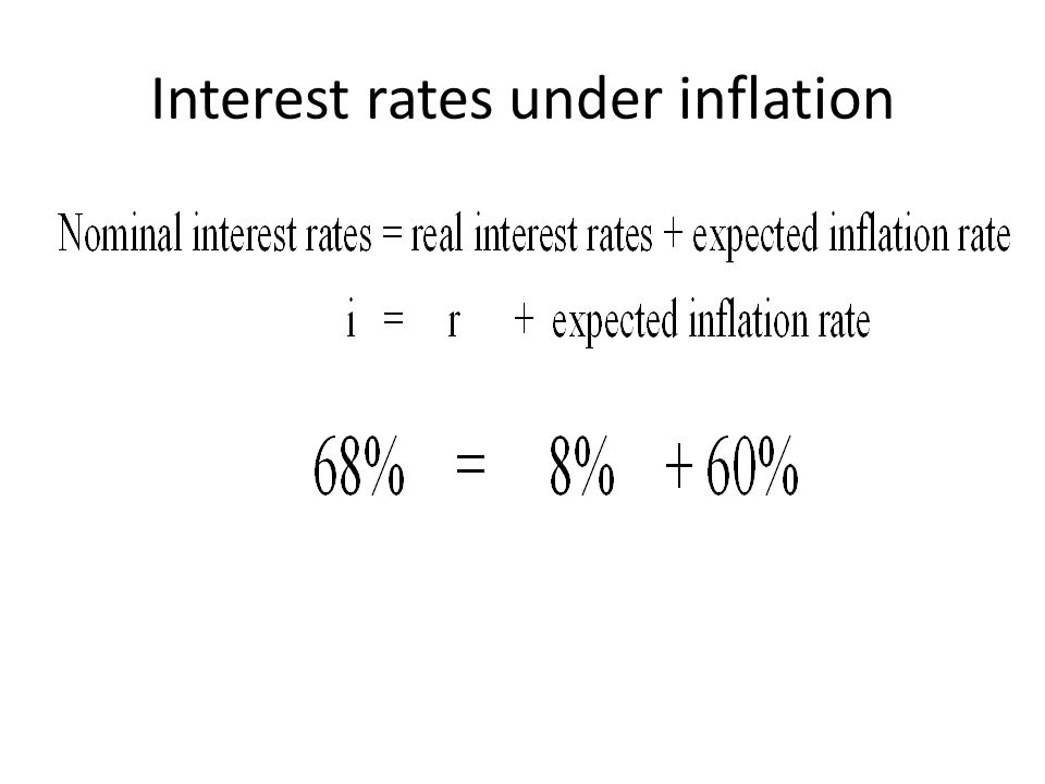 Interest rates under inflation