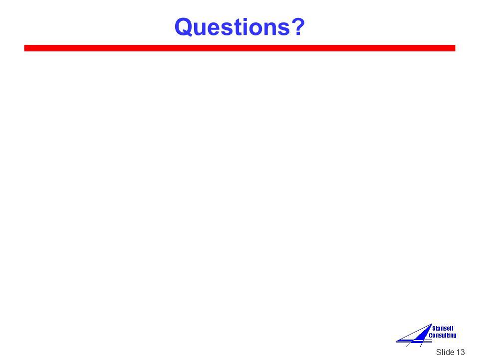 Slide 13 Questions