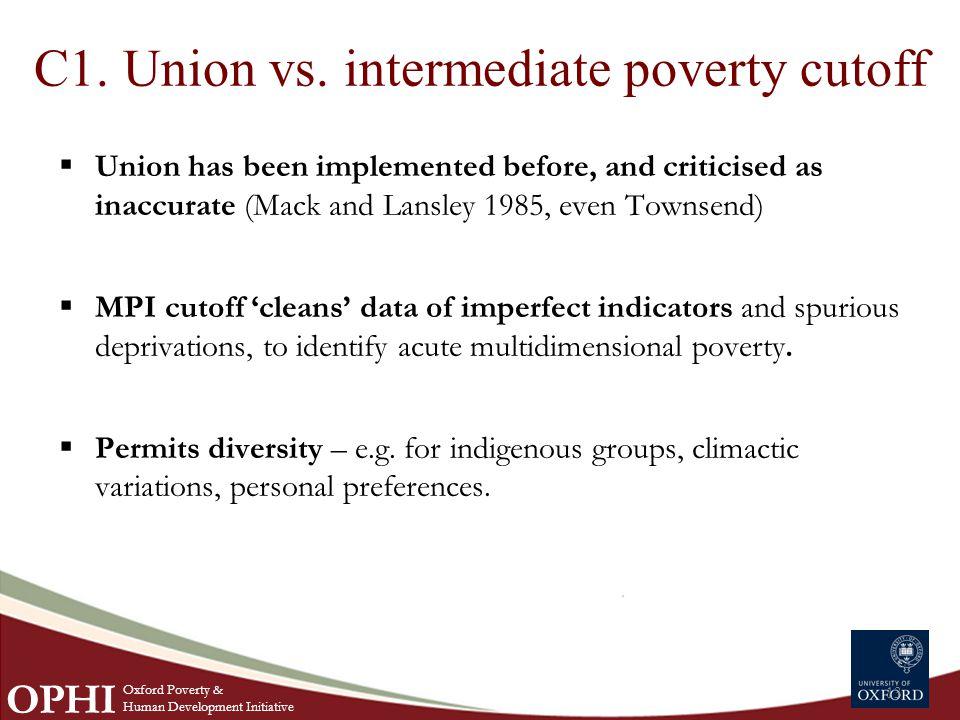 C1. Union vs.