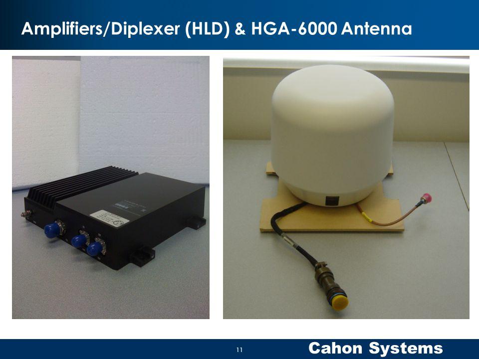 Cahon Systems Amplifiers/Diplexer (HLD) & HGA-6000 Antenna 11