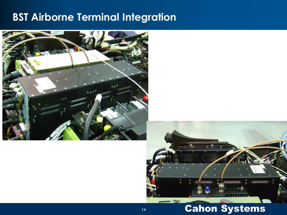Cahon Systems BST Airborne Terminal Integration 14