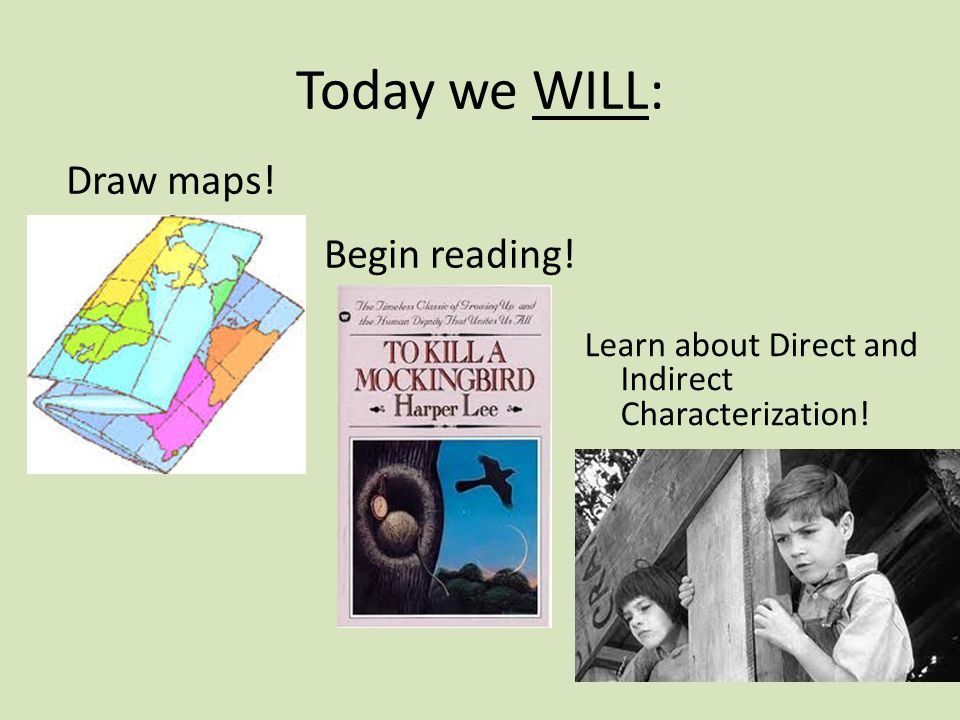Today we WILL: Begin reading! Draw maps! Learn about Direct and Indirect Characterization!