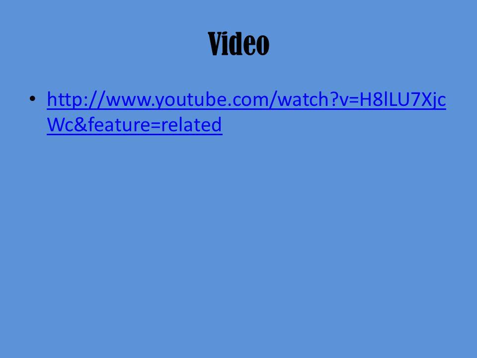 Video http://www.youtube.com/watch?v=H8lLU7Xjc Wc&feature=related http://www.youtube.com/watch?v=H8lLU7Xjc Wc&feature=related