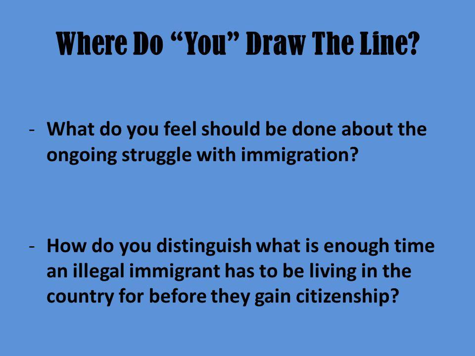 Where Do You Draw The Line.