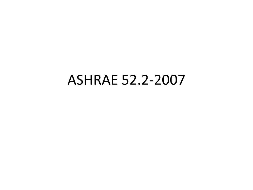 ASHRAE 52.2-2007