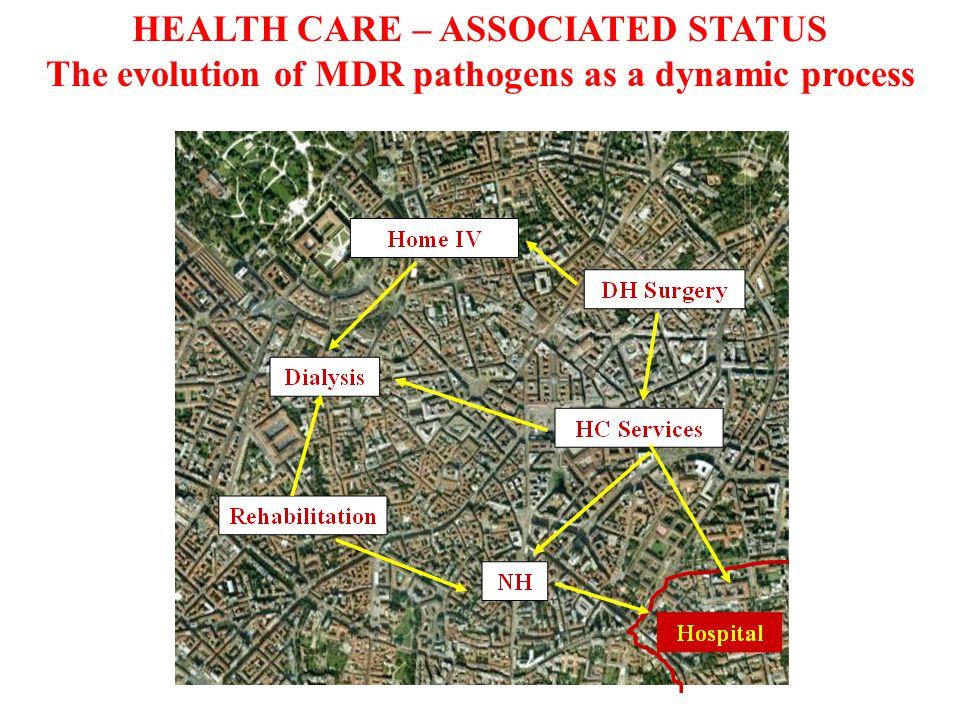 HCAP: original definition ATS / IDSA guidelines for HA, VAP and HCAP, Am J Respir Crit Care Med 2005 HCAP health care associated pneumonia