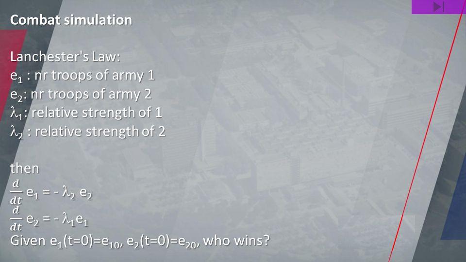 Combat simulation