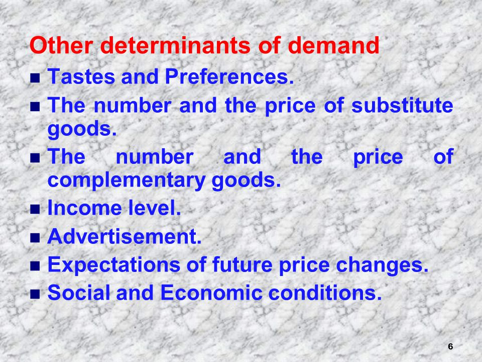 7 Movement along the demand curve Change in the quantity demanded – a movement along the demand curve to a new point.