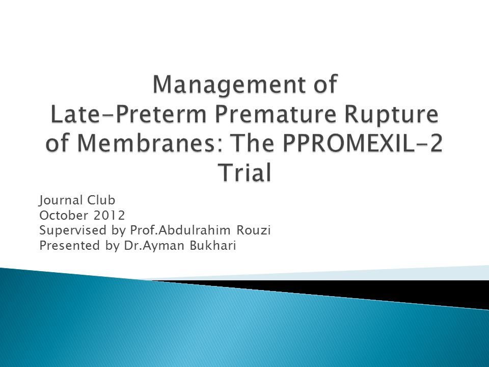 Journal Club October 2012 Supervised by Prof.Abdulrahim Rouzi Presented by Dr.Ayman Bukhari
