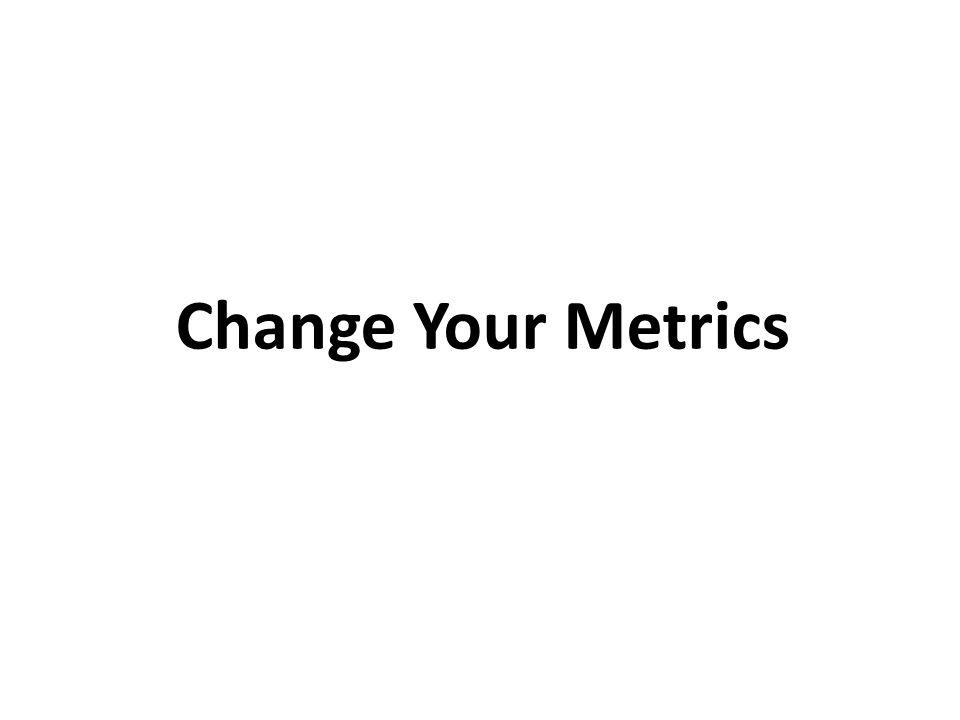 Change Your Metrics