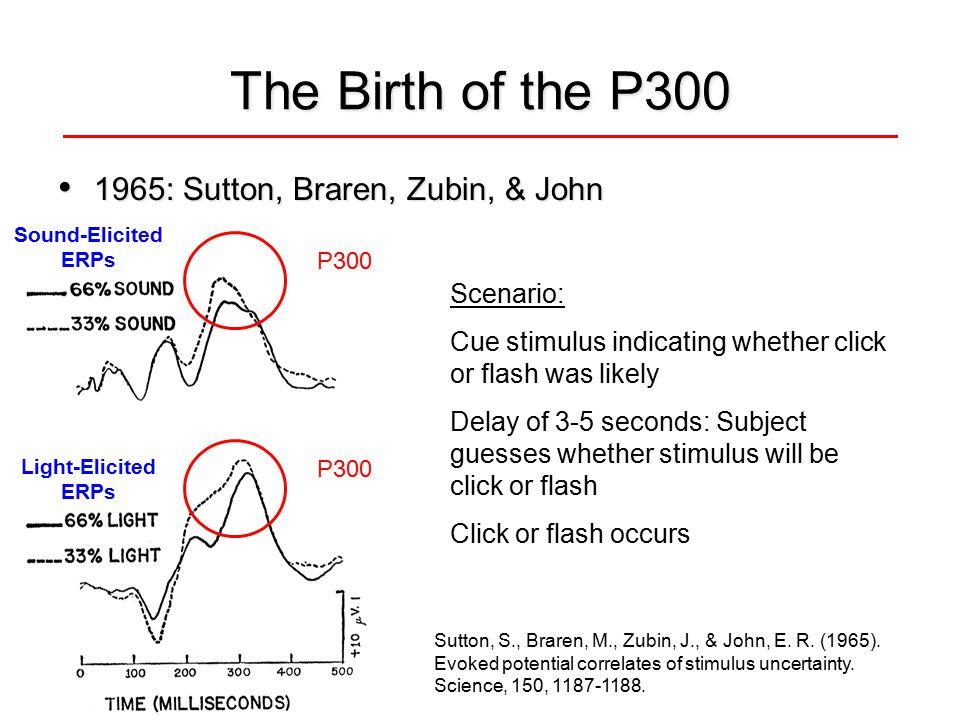 Sutton, S., Braren, M., Zubin, J., & John, E. R. (1965).