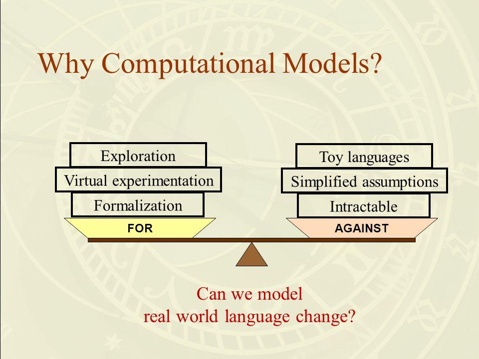 Why Computational Models.