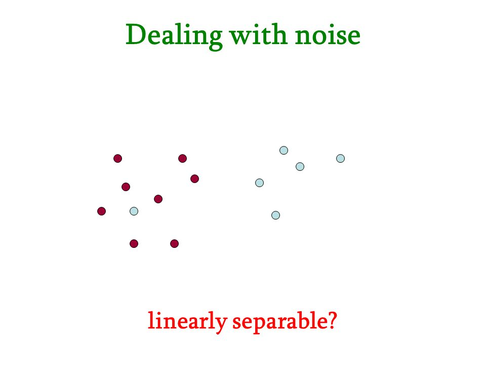 Dealing with noise linearly separable?