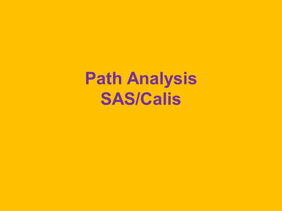 Path Analysis SAS/Calis