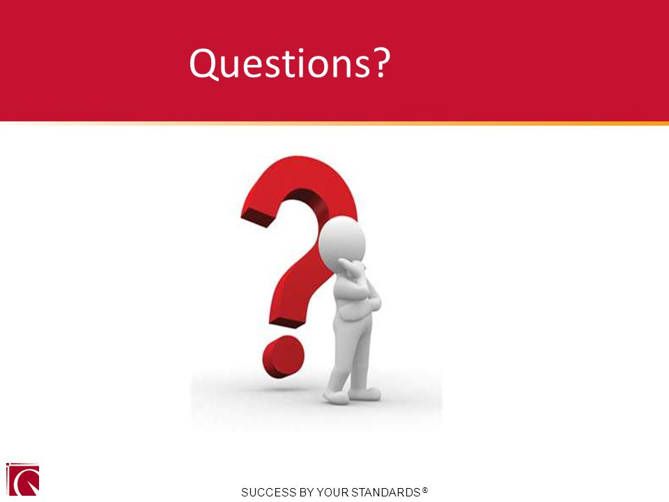 Questions SUCCESS BY YOUR STANDARDS ®