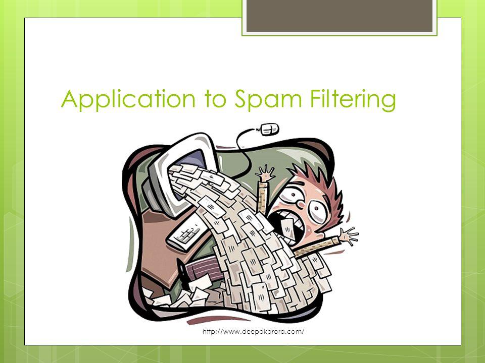 Application to Spam Filtering http://www.deepakarora.com/