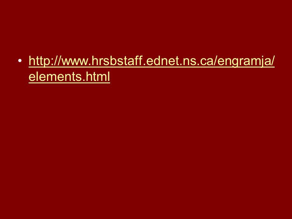 http://www.hrsbstaff.ednet.ns.ca/engramja/ elements.htmlhttp://www.hrsbstaff.ednet.ns.ca/engramja/ elements.html