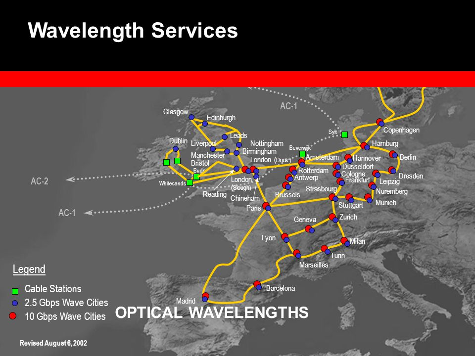 OPTICAL WAVELENGTHS Revised August 6, 2002 Wavelength Services