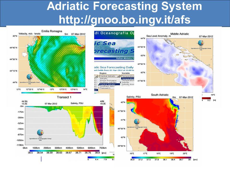 Adriatic Forecasting System http://gnoo.bo.ingv.it/afs