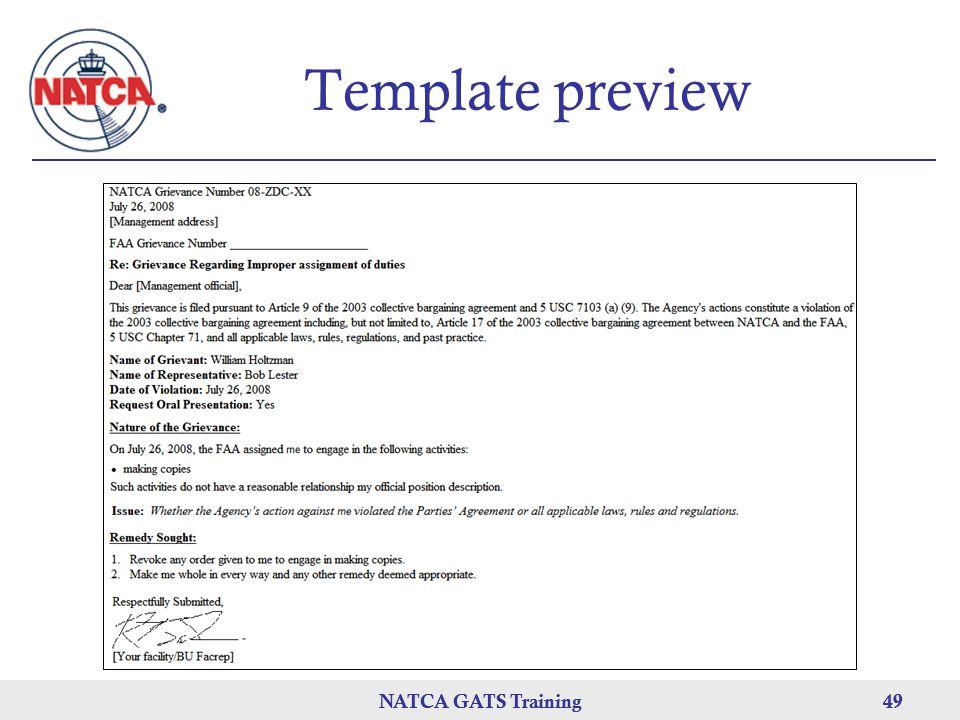 NATCA GATS Training 49 NATCA GATS Training49 Template preview
