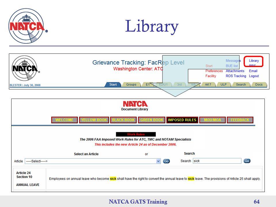 NATCA GATS Training 64 NATCA GATS Training64 Library