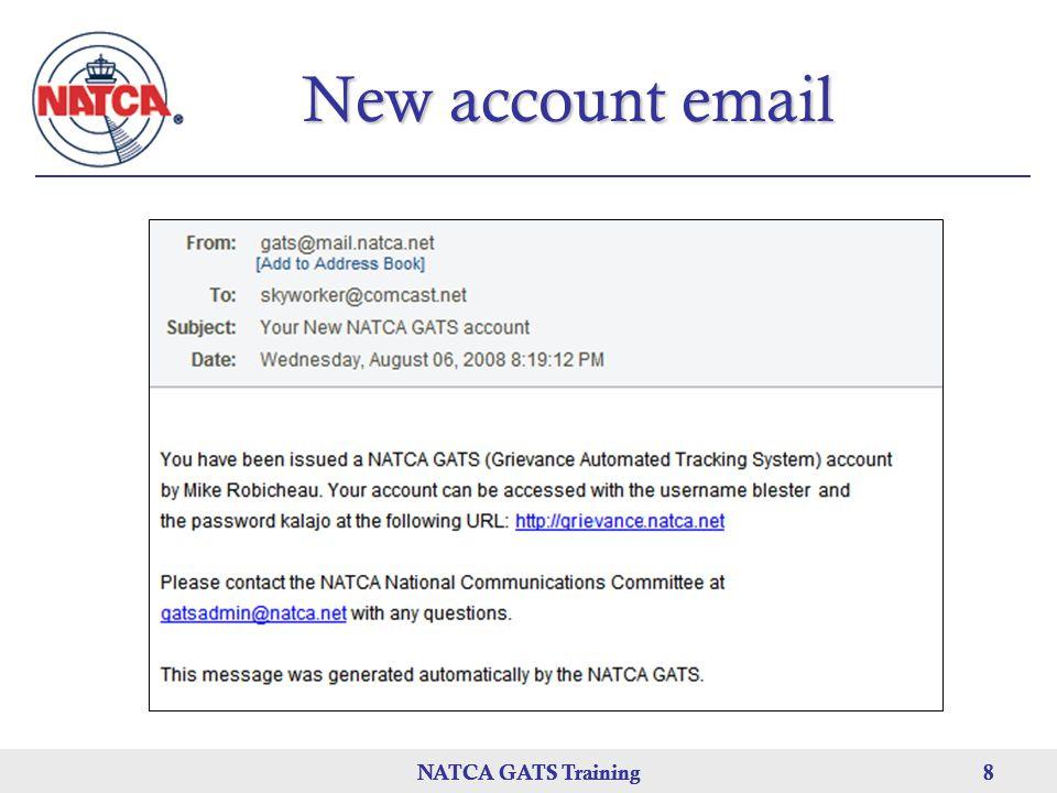 NATCA GATS Training 8 8 8 New account email