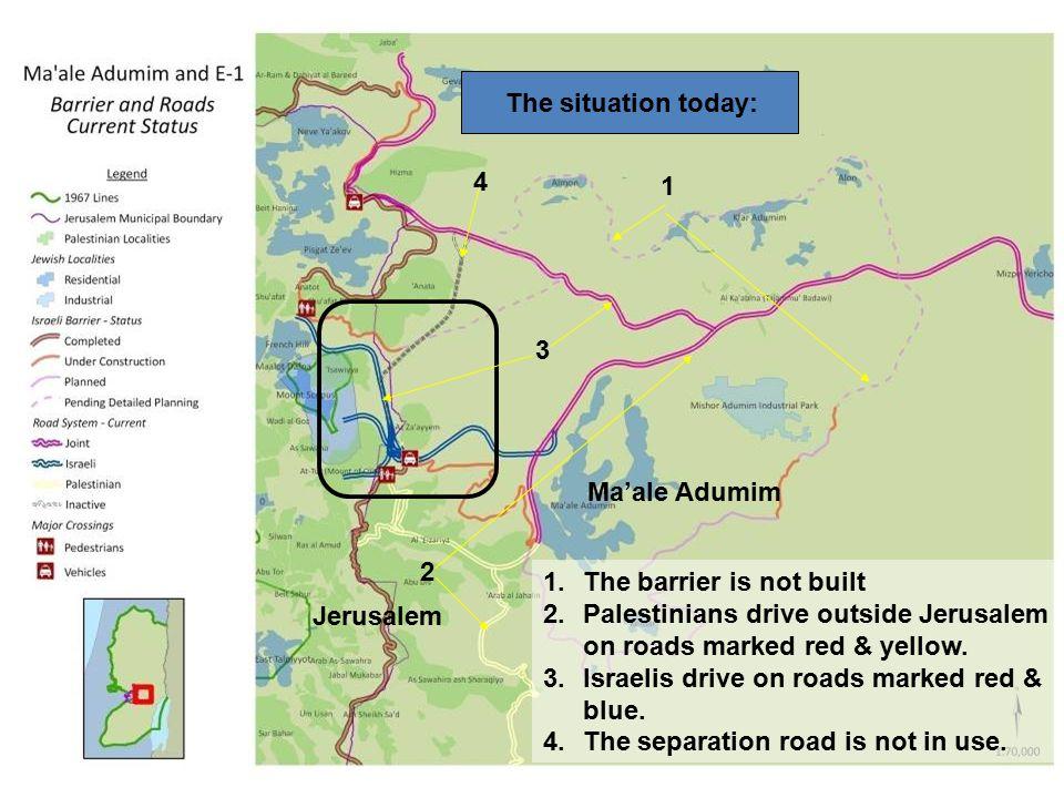 A-Za'ayyem United Jerusalem A-Za'ayyem passage (existing) A-Za'ayyem interchange: a separation system between Israeli and Palestinian traffic with 13 possibilities (follow the yellow track)