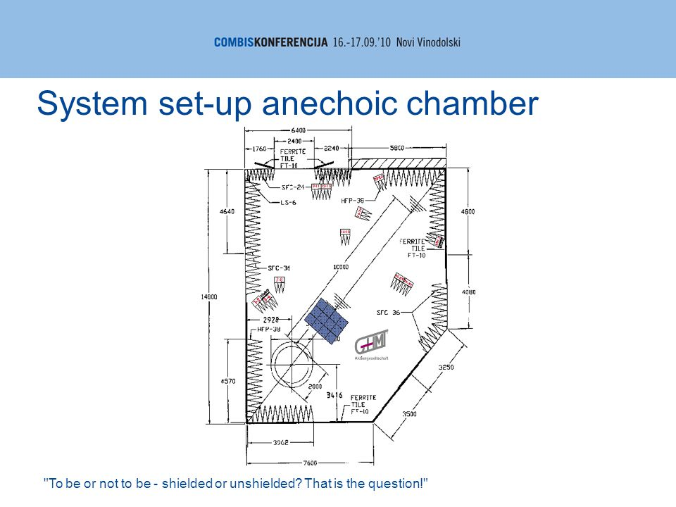 To be or not to be - shielded or unshielded? That is the question! System set-up anechoic chamber