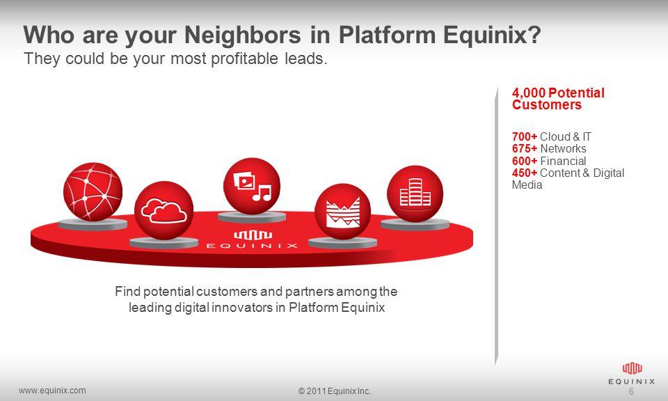 www.equinix.com © 2011 Equinix Inc. 6 Who are your Neighbors in Platform Equinix.