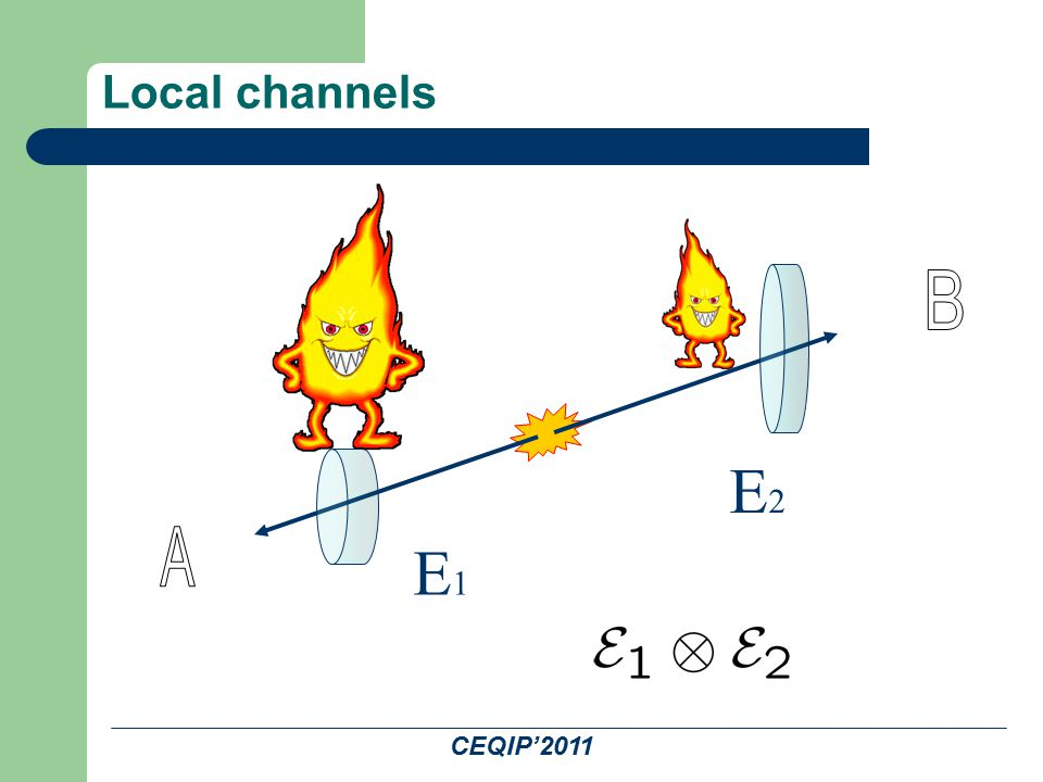 CEQIP'2011 Local channels E1E1 E2E2