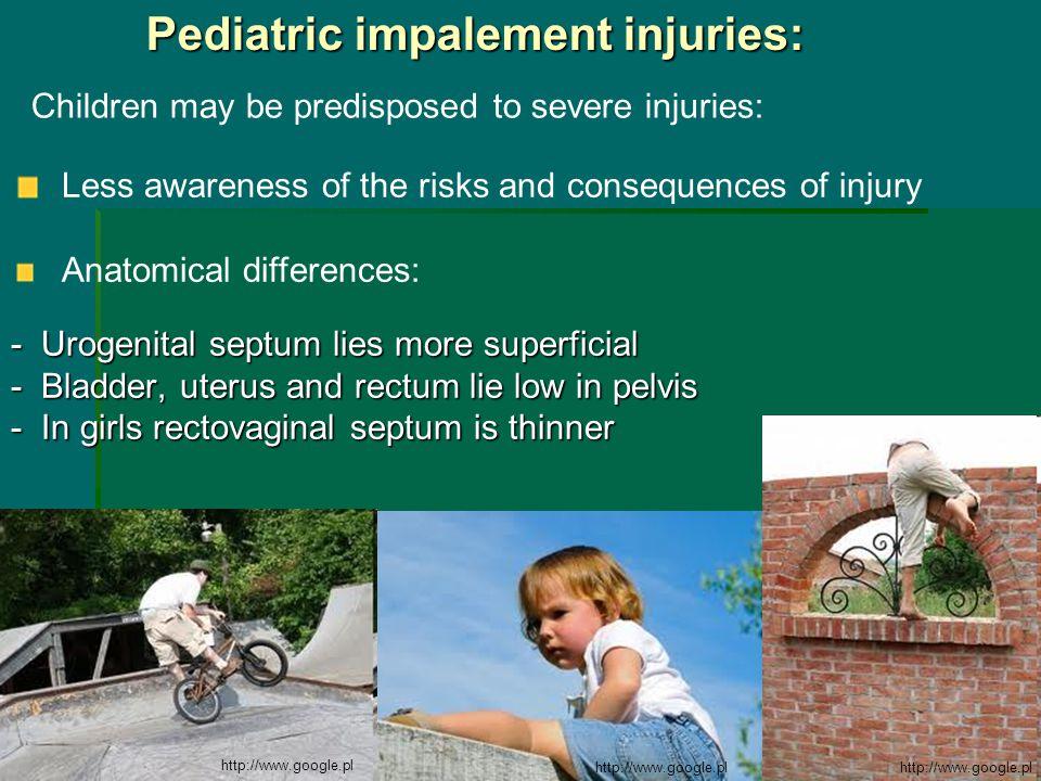 - Urogenital septum lies more superficial - Bladder, uterus and rectum lie low in pelvis - In girls rectovaginal septum is thinner Pediatric impalemen