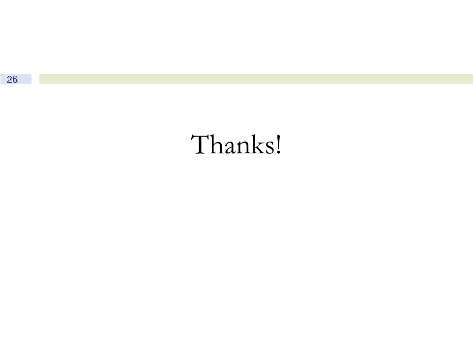 26 Thanks!